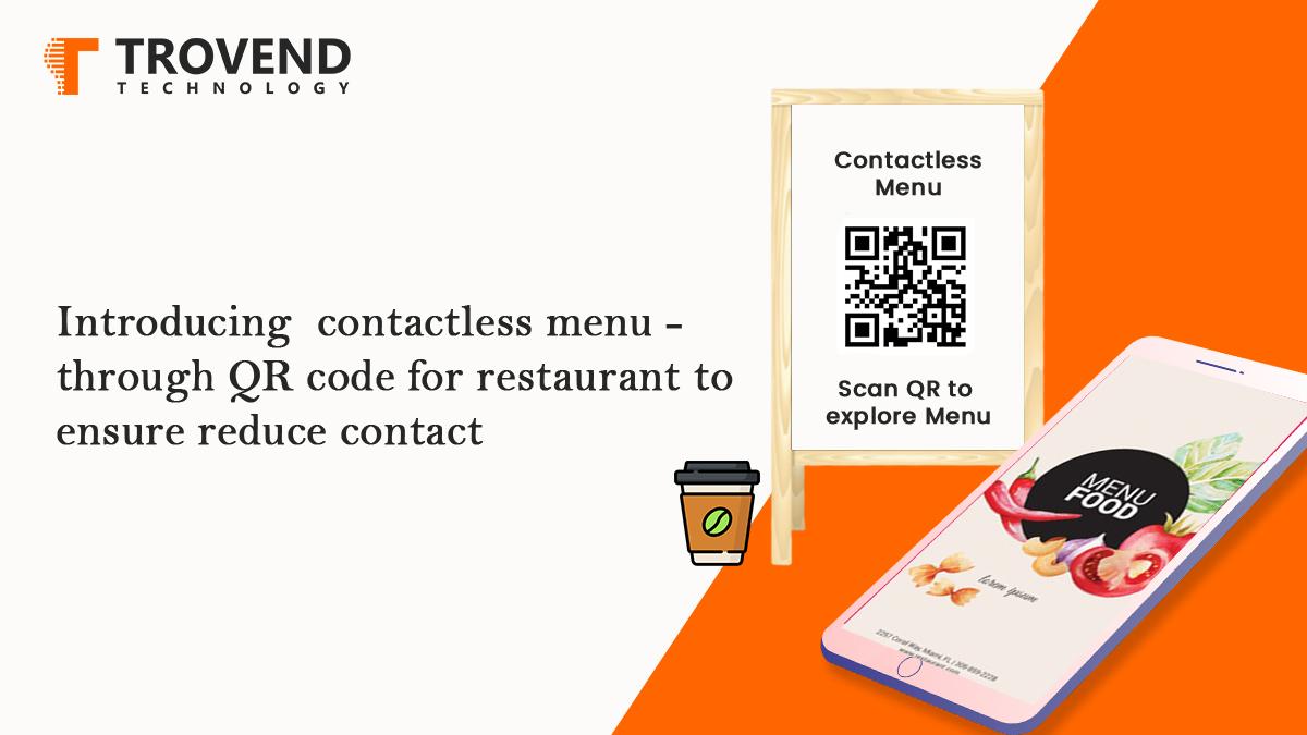 contactless menu for restaurant